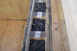 Blähschiefer im Zwischenraum der Steko-Module bietet hohen Schallschutz