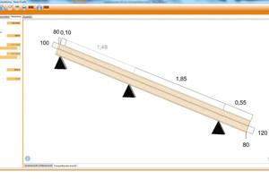 Das Programm fragt zunächst die Maße des Gebäudes ab. Anschließend sind Daten zur Geometrie des Dachstuhls gefragt