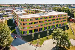 "Das pbr Planungsbüro Rohling AG plante das Verwaltungsgebäude der Stadtwerke Lübeck aus Holz<span class=""bildnachweis"">Foto: Ulrich Hoppe</span>"
