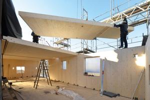 Bau des Woodcube in Hamburg, anlässlich der IBA 2013