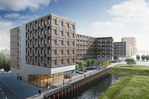 Seit Anfang Oktober 2016 wird eines der größten Studentenwohnheime in Holzmodulbauweise in Hamburg-Wilhelmsburg gebaut