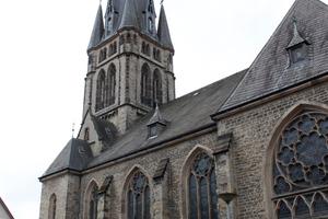 Die Marthin-Luther-Kirche in Detmold. Das Dach überfliegt Thomas Potthast regelmäßig mit der Drohne, um es zu inspizieren