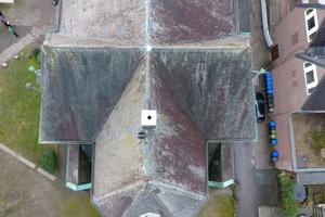"""Dieses Foto hat die Drohne von Dachdeckermeister Thomas Potthast von der Martin-Luther-Kirche in Detmold aufgenommen <span class=""""bildnachweis""""></span>"""