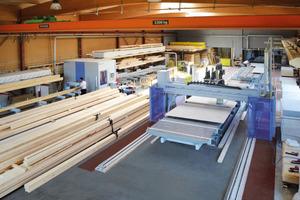 Die Firma Weinmann zeigt auf der Ligna in Hannover Maschinen zur Vorfertigung von Holzbauteilen Foto: Weinmann Holzbausystemtechnik GmbH