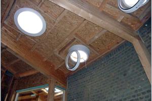 """Das Dach während des Baus von innen … <span class=""""bildnachweis""""></span>"""