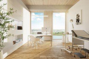 Weitere Computervisualisierung eines Apartements im zukünftigen Holzhochhaus Wien<br />