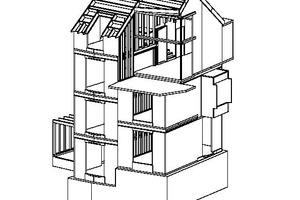 """3D-Ansicht des Einfamilienhauses, ohne Maßstab<span class=""""bildnachweis"""">Quelle: Marte Architektur</span>"""