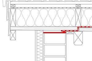 Durchlaufende Sparren, die am Mauerwerk aufliegen, müssen umlaufend luftdicht angeschlossen werden