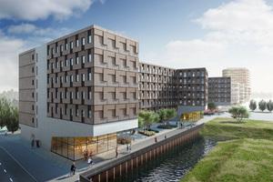 """So soll das Studentenwohnheim """"Woodie"""" aussehen, die Fertigstellung ist für September 2017 geplantFotos: Woodie, Hamburg"""