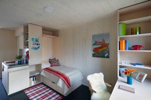 """Die Holzmodulwohnungen im Hamburger """"Woodie"""" sind nur 20 m² groß"""