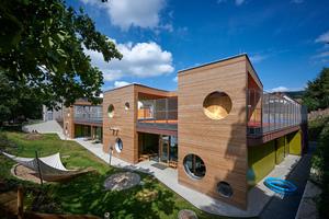 """Der Neubau der Kindertagesstätte im Neuwieder Stadtteil Heimbach-Weis gilt als bundesweit einmaliges Pilotprojekt<span class=""""bildnachweis"""">Foto: Sika </span>"""