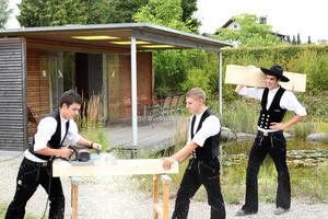 """Bei Baufritz setzen die Auszubildenden in einer eigenen Firma kleinere Projekte selbst um, wie etwa Gartenhäuser oder Bienenstände<span class=""""bildnachweis"""">Foto: Baufritz</span>"""