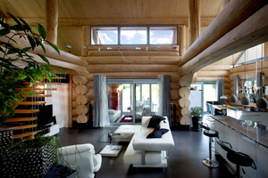 Eine Betonbodenplatte bildet den Fußboden des Hauses, darin ist auch die Fußbodenheizung installiert