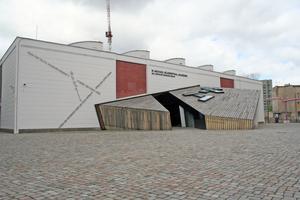 """Die Akademie des Jüdischen Museums in Berlin ist mit Accoya-Holz verkleidet, das als besonders dauerhaft gilt <span class=""""bildnachweis""""></span>"""
