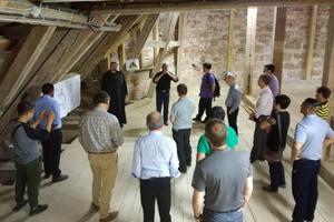 Besuch des Dachstuhls der Basilika in Ottobeuren