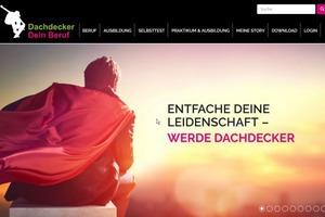 """Startseite der Kampangne <a href=""""http://www.dachdeckerdeinberuf.de"""" target=""""_blank"""">www.dachdeckerdeinberuf.de</a>     Quelle: ZVDH"""