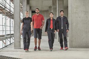 """Die Hosen und Jacken des """"BPlus""""-Sortiments sind aus einem elastischen Mischgewebe gefertigt<span class=""""bildnachweis"""">Foto: Bierbaum Proenen</span>"""
