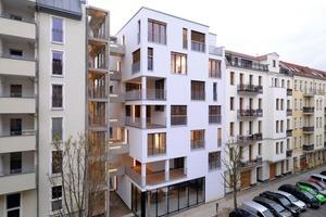 """<div class=""""99 Bildunterschrift_negativ"""">In der Kategorie Neubau wurde beim Deutschen Holzbaupreis 2009 unter anderem das siebengeschossige Mehrfamilienhaus (Kaden Klingbeil Architekten)in Berlin ausgezeichnet. </div>"""
