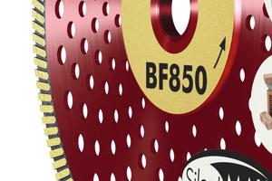 Lärmreduziert aber mit gleicher Leistung: die Diamant-Trennscheibe BF850 <br />