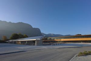 Das Finanzamt Garmisch-Partenkirchen wurde aufgrund der klaren Holz-Architektur und der Energieeffizienz ausgezeichnet<br />Foto: Michael Heinrich<br /><br />