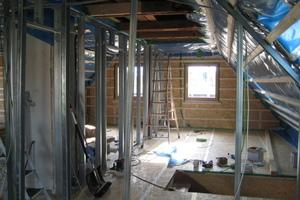 Dachgeschoss-Ausbau mit Trockenbauprofilen<br />