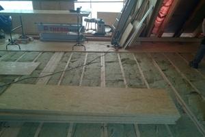 Der Dachboden wurde neu gedämmt mit Mineralwolldämmstoff<br />