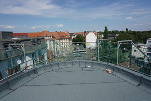 Gebäudespitze auf dem Dach des Z8 in Leipzig<br />