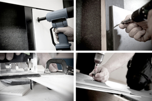 Auf Holz- oder Alu-Unterkonstruktionen, auf dem Dach oder an der Fassade: Montage von Faserzementtafeln in Seminaren der Eternit Akademie⇥Foto: Eternit