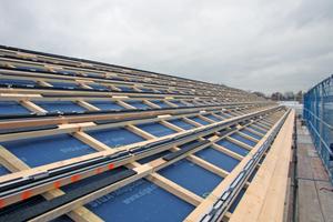 Auf die Dachlattung kommen Anschlüsse für eine Photovoltaik-Dachdeckung Fotos (2): S. Thomas