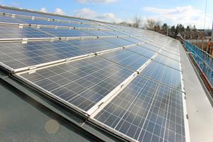 """<irspacing style=""""letter-spacing: -0.02em;"""">Der Solarstrom, der über das Dach gewonnen wird, soll bei Sonnenschein zur Versorgung von vier Studentenwohnheimen reichen</irspacing>"""