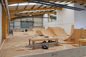 """Bei den Rampen im schottischen Shred-Skatepark sorgen """"SterlingOSB""""-Platten von Norbord für die erforderliche Stabilität des Unterbaus"""