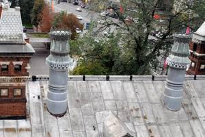 """Der Zustand des Daches vor der Sanierung Fotos: OOO """"Faber"""", Moskau"""