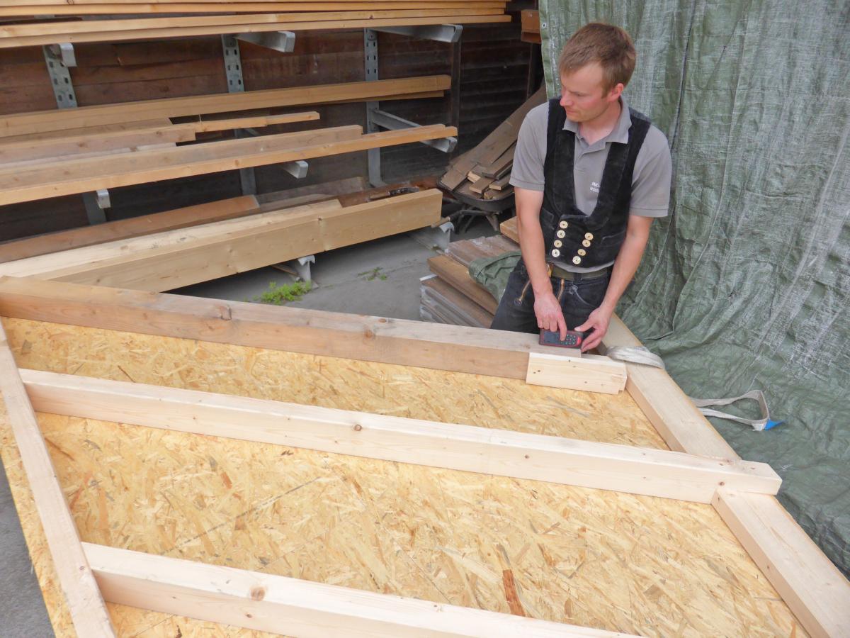 Anvisieren messen und fertig! dach holzbau