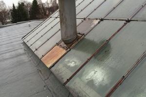 Die Glasleisten an zwei Sheddächern der Autowerkstatt waren aufgrund langjähriger Witterungseinflüsse nicht mehr intakt