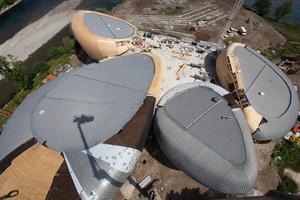 """Das Kulturzentrum setzt sich aus vier steinförmigen Gebäuden zusammen<span class=""""bildnachweis""""> </span>"""