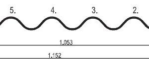 Wellplatten Profil 6¾Zeichnung: Creaton