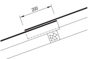 Höhenüberdeckung bei Wellplatten Profil 6¾ Zeichnung: Creaton