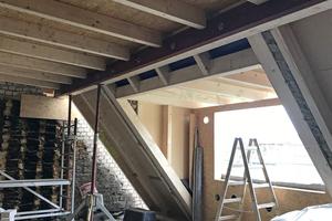 """Der Einbau großer Gauben sorgt für viel Tageslicht unter dem Dach<span class=""""bildnachweis"""">Fotos (2): Gutex</span>"""
