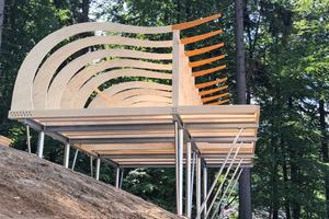 """Die Häuser stehen auf einer stelzenartigen Stahlkonstruktion<span class=""""bildnachweis"""">Fotos (4): Sonnenhotels</span>"""