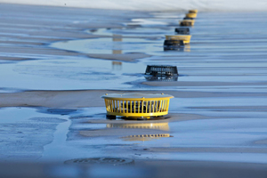 """Wenn Regen nicht mehr über die Haupt- entwässerung (schwarz) abfließen kann, kommt die Notentwässerung (gelbe Anstauelemente) zum Einsatz<span class=""""bildnachweis"""">Foto/Grafik: Sita</span>"""