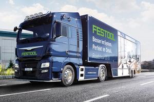 Mit seiner Roadshow ist Festool im Oktober noch in zehn deutschen Städten zu Gast. Besucher können neue Werkzeuge kennen lernen und ausprobieren<br /> Foto: Festool<br /><br />