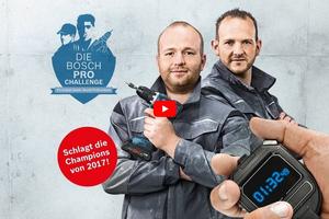 In diesem Video erklären die Vorjahresgewinner Jan Horas und Dirk Wagner die Regeln der Bosch Pro Challenge.<br />
