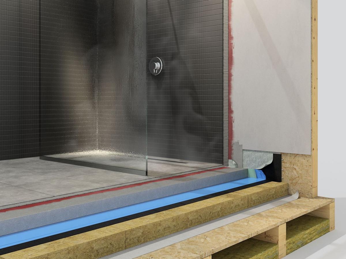Abdichtung Der Bader Von Holzhausern Mit Kunststoffdachbahnen Dach Holzbau