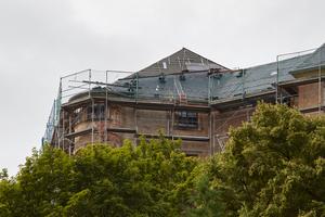 Bei der Sanierung des Schlosses stand die Dachsanierung im Mittelpunkt