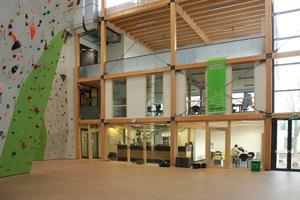 Die Kletterhalle des Deutschen Alpenvereins in Hannover wurde ebenfalls mit dem zweiten Platz des Niedersächsischen Holzbaupreises ausgezeichnet