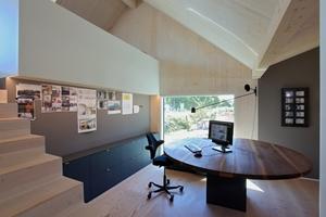 Ein Sonderpreis Baukultur ging an die Büro- und Ausstellungsräume der Tischlerei Krüger in Alfeld. Wände und Decken bestehen hier aus Fichte-Brettschichtholz
