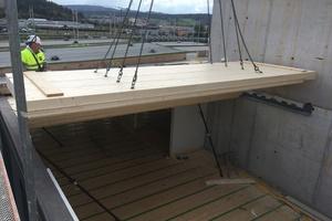 <p>Bei den 20 Neubauten bestehen nur das Unter- und Erdgeschoss sowie die Treppenhäuser aus Beton, der Rest ist aus Holz gebaut </p><p>Foto: Implenia Schweiz</p>
