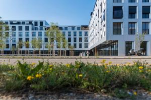 """Die Fassade der """"sue&til""""-Gebäude besteht aus Aluminiumverbundplatten<br />"""