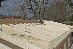 Vorbereiten des Dachstuhls für die Aufdachsparrendämmung