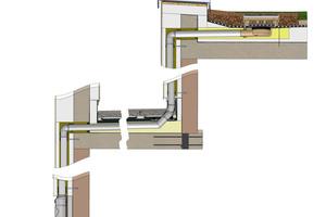 """Die """"SitaAttika Kaskade"""" wird im Gefälle verlegt und an einen Freispiegelgully in der oberen Dachfläche angeschlossen<br />"""